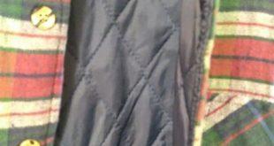 Vintage quilted flannel jacket shirt Large Vintage flannel lightweight jacket wi...