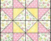 Zu nähende Quilts - Vier Patch-Quiltmuster / sq hst + Quilt. + Muster. + pa
