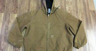 (eBay Sponsored) MENS XL - Vtg Carhartt J130 Sandstone Flannel Quilted Lined Ran...
