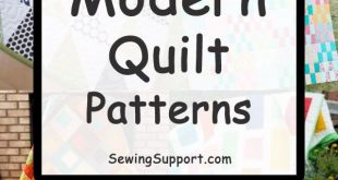 10+ Easy (and Free) Modern Quilt patterns simple enough for the beginner to sew....
