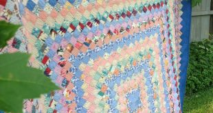 1930's 40's Vintage Twin Trip Around World Quilt Top Repurposed into New Quilt H...