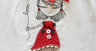 "Applique Design ""All Dolled Up"" Quilting Ideas on T-shirts"