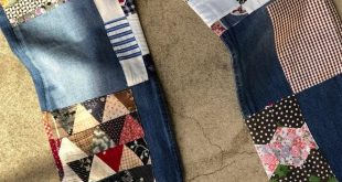 Arts Mid Straight Jean in Vintage Quilt Patch