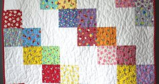 Baby Girl Quilt- Feed sack Baby Quilt- Granny Chic Baby Bedding- Granny Chic Nur...