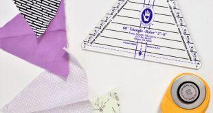 Baby Quilt Patterns: Triangle Modern Quilt Pattern