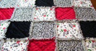 Best patchwork baby blanket pattern rag quilt ideas