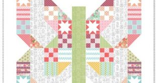 "Butterfly Patch Quilt Kit 66"" x 66"" Moda Lollipop Garden Fabric Lella Boutique"