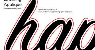Calligraphy Applique Templates Shannon Gillman Orr creator of Eva Blake's Make...