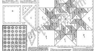 Circling Swallows Quilt Block Diagram