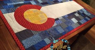 Colorado Flag Quilt 3'X5' by FeatherAfter on Etsy