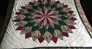 Colorful Vintage Quilt--- --Christmas Holiday Quilt -- All Hand Quilted vintage quilt--Handmade, Vintage QUILT