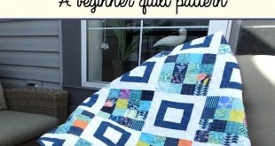 Connecting Four - A beginner quilt pattern, quilt pattern pdf download, jelly roll pattern, modern quilt pattern