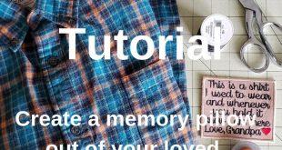Easy DIY Memory Pillow Tutorial