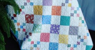 Easy PDF quilt pattern, Diamond Patch, baby to king size