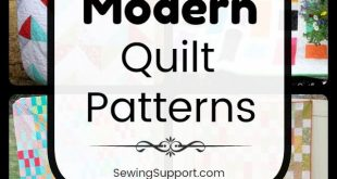 Easy Quilt Patterns for Modern Quilts. Eleven free and easy modern quilt designs...