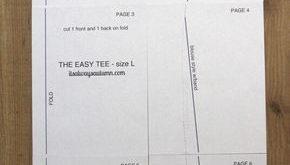 Einfaches T-Shirt für Damen zum selber nähen in Größe L - Freebook