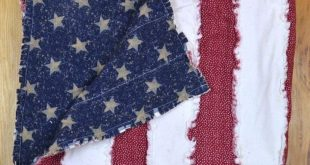 FREE PATTERN: American Flag Rag Quilt