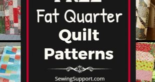 Free Quilt Patterns using Fat Quarters. 30+ free fat quarter quilt patterns, tut...