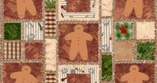 Gingerbread Rag Quilt of My Own Design