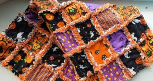 Halloween rag quilt, I wouldn't buy it, but I like the idea and can make my ...