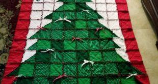 Handmade Christmas Tree Rag Quilt