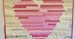Have a Heart quilt pattern by J. Michelle Watts - NICE! Two sizes. A jelly roll race variation Strip quilt Great for beginners! scrap quilt