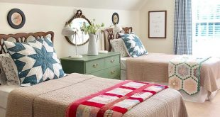 I made a few changes in the grands' room. Took off the summery bedding and gra...