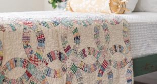 I picked up this double wedding ring quilt last week while out shopping and if i...