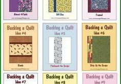 Ideas for Backing a Quilt: #LetsQuilt