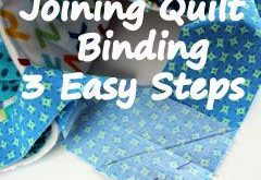 Joining Quilt Binding in 3 Easy Steps