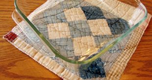 Kitchen Trivet made from an Old Vintage Quilt