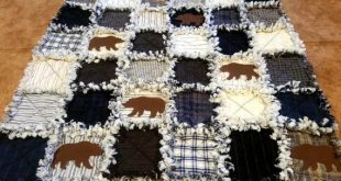 """Lakeside Gatherings 5"""" Charm Pack will make this Rag Quilt Top - Moda Wovens"""