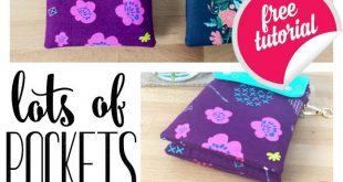Lots of Pockets Cross Body Bag - Free Sewing Pattern!