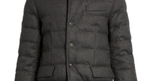 MONCLER Rodin Wool-Flannel Quilted-Down Coat. #moncler #cloth #coat