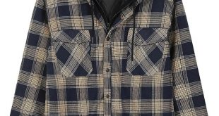 Men's Clothing, Shirts, Casual Button-Down Shirts, Men's Thicken Plaid Flannel Q...
