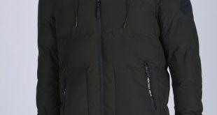 Milanoo / Black Parka Coat Men Quilted Coat Hooded Long Sleeve Zip Up Puffer Coat For Men