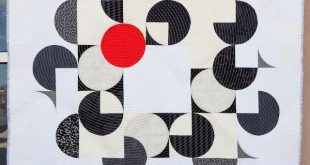 Modern quilting explorations and modern quilt patterns. Circling the Square patt...