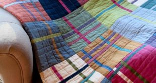 Muslin geometric quilt | The Potting Shed Quilter