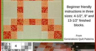 "New Irish Chain Quilt Block: 4-1/2"", 9"" and 13-1/2"""
