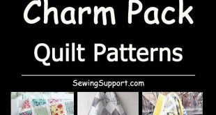 Over 30 Free Quilt Patterns & tutorials using Charm Packs (5 inch squares). #qui...