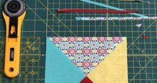 Quilt Block, Quarter Square Triangle
