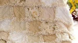 Rag Quilt - love the neutrals! by ammieiscool
