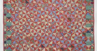 Red Triangles-a vintage quilt