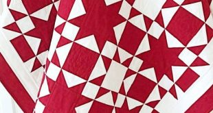 Red and White Quilt Patterns PDF Christmas Quilt Pattern Star Quilt Pattern Patriotic Quilt Patterns