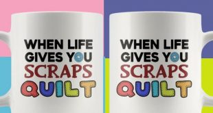 Sentimental Quilting Mug Scraps Quilt Gift Coffee Cup For Mom Grandma 11 oz. Ceramic