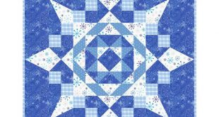 Seven Easy Pieces Quilt Pattern, throw quilt pattern, easy paper pieced quilt patterns, star quilt pattern, snowflake pattern, star patterns