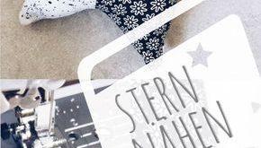 Stern nähen – kostenlose Anleitung mit Vorlage für Sternanhänger