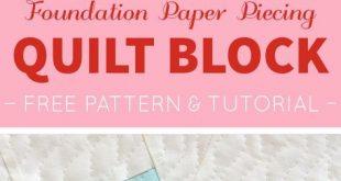 Tutorial: einen Quilt Block Paper Piecen