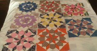 Vintage Patchwork Quilt Piece Squares Repurpose Fashion Fabric TOP ONLY   eBay