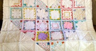 Vintage Style Hanky Heart Rag Quilt by ZeedleBeez on Etsy, $175.00 by hester
